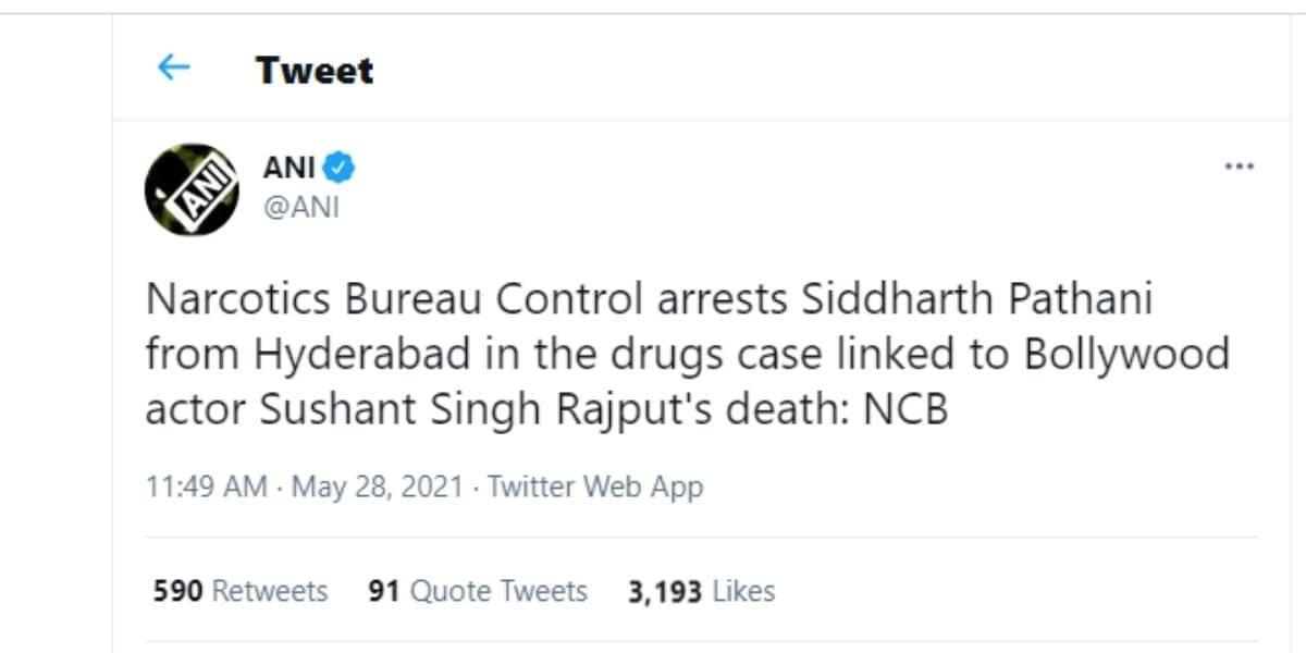 Siddharth pithani, siddharth pithani arrest