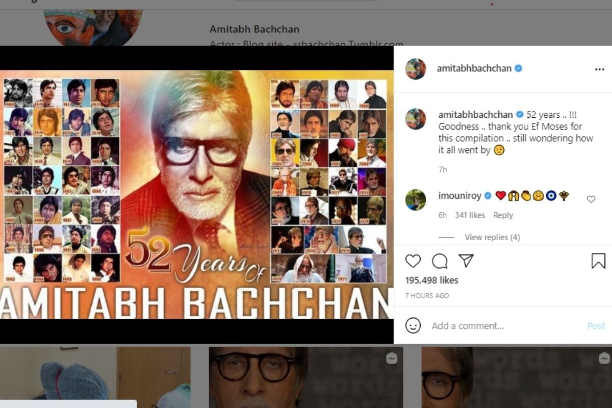Amitabh Bachchan, 52 years of Amitabh Bachchan in Bollywood, Amitabh Bachchan Completed 52 years in Bollywood, Social Media, Viral Post, Amitabh Bachchan Bollywood, Amitabh Bachchan in Bollywood from 1969 to 2021, अमिताभ बच्चन, बिग बी, सोशल मीडिया, वायरल पोस्ट