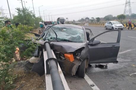आगरा के एत्मादपुर इलाके में रिंग रोड पर दुर्घटना हुई है.