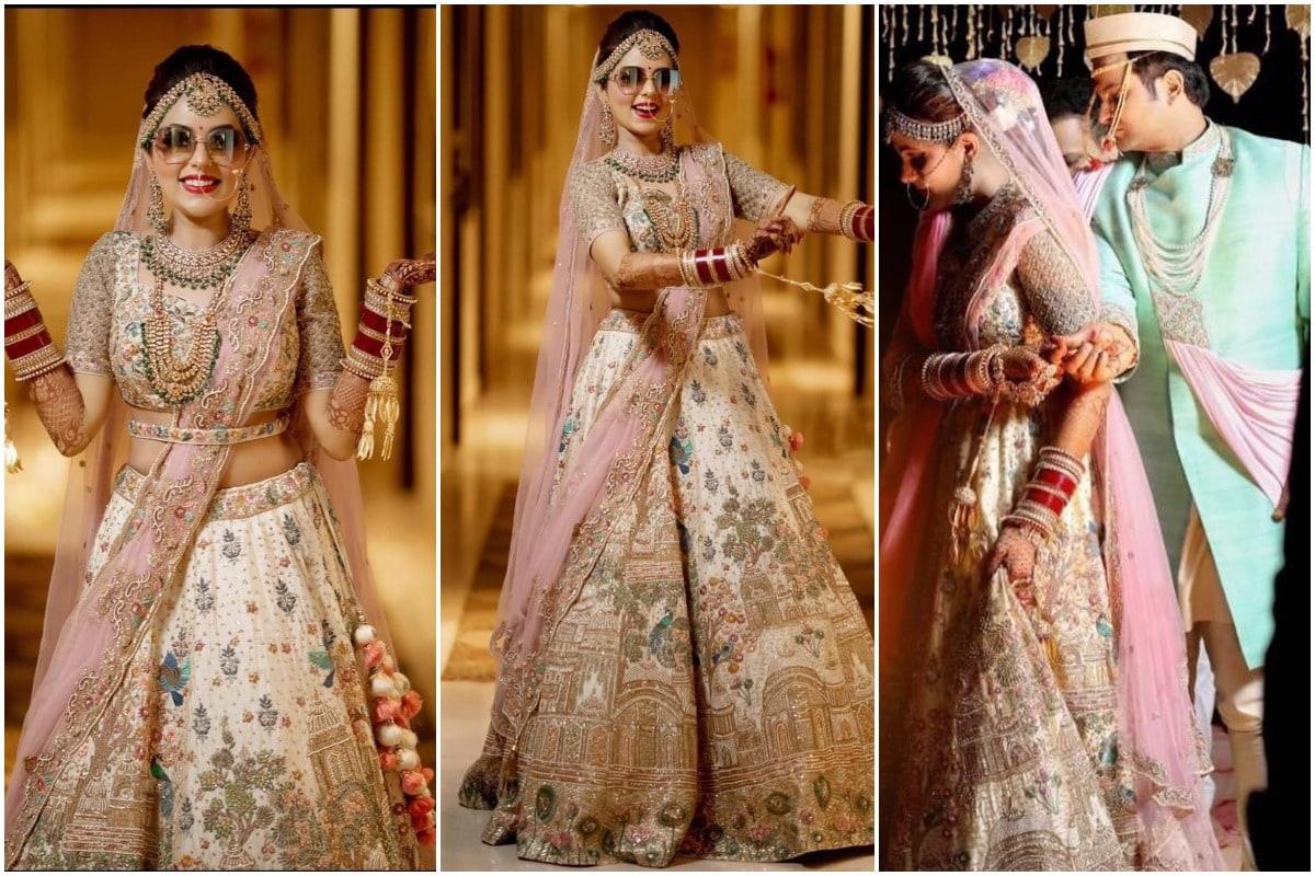 Sugandha Mishra, Sugandha and Sanket Marriage Photos, bridal swag, Dr Sanket Bhosale, The Great Indian Laughter Challenge, सुगंधा मिश्रा, संकेत भोसले