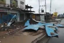 गुजरात: टाउते तूफान का कहर, बारिश-हवा से उड़ी घरों की छत,अंधेरे में 1000 गांव
