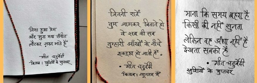 Geet Chaturvedi Quote