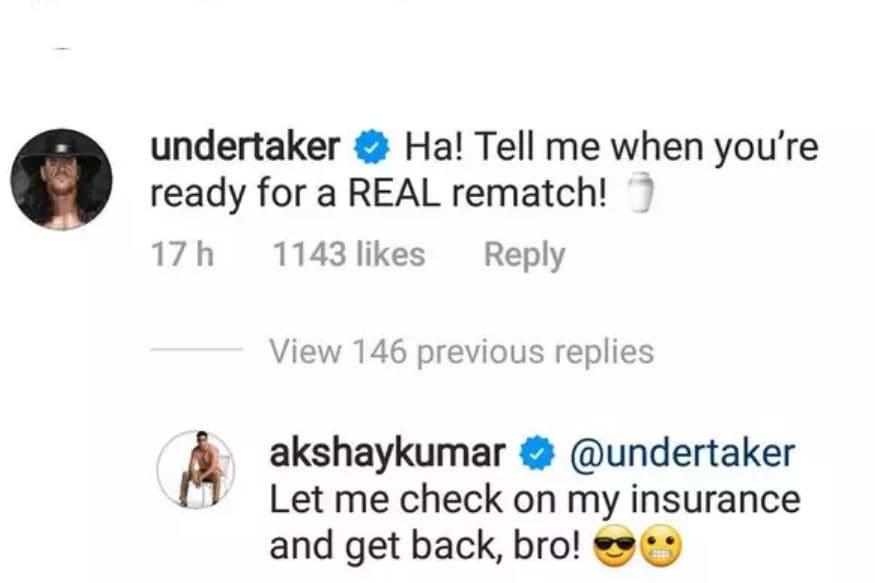 Undertaker, Akshay Kumar, Undertaker Challenges Akshay Kumar, Bollywood News, Akshay Kumar News, Undertaker Challenges Akshay Kumar For Real Fight, Social Media, Viral News, Akshay Kumar, The Undertaker, The Undertaker invites Akshay Kumar to the real fight