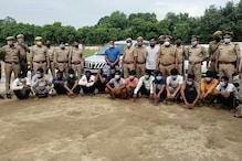 पुलिस मुठभेड़ में 15 बदमाश गिरफ्तार, लग्जरी कार समेत 19 लाख की ज्वेलरी बरामद
