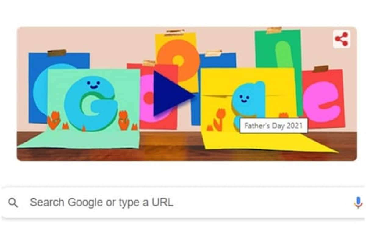 On Father's Day, Google made special doodle, wishes with GIF greeting card