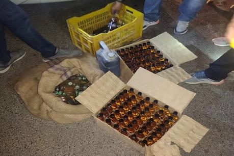 प्रयागराज रेंज में ताबड़तोड़ छापेमारी में करोड़ों की हजारों लीटर अवैध शराब पकड़ी गई है.
