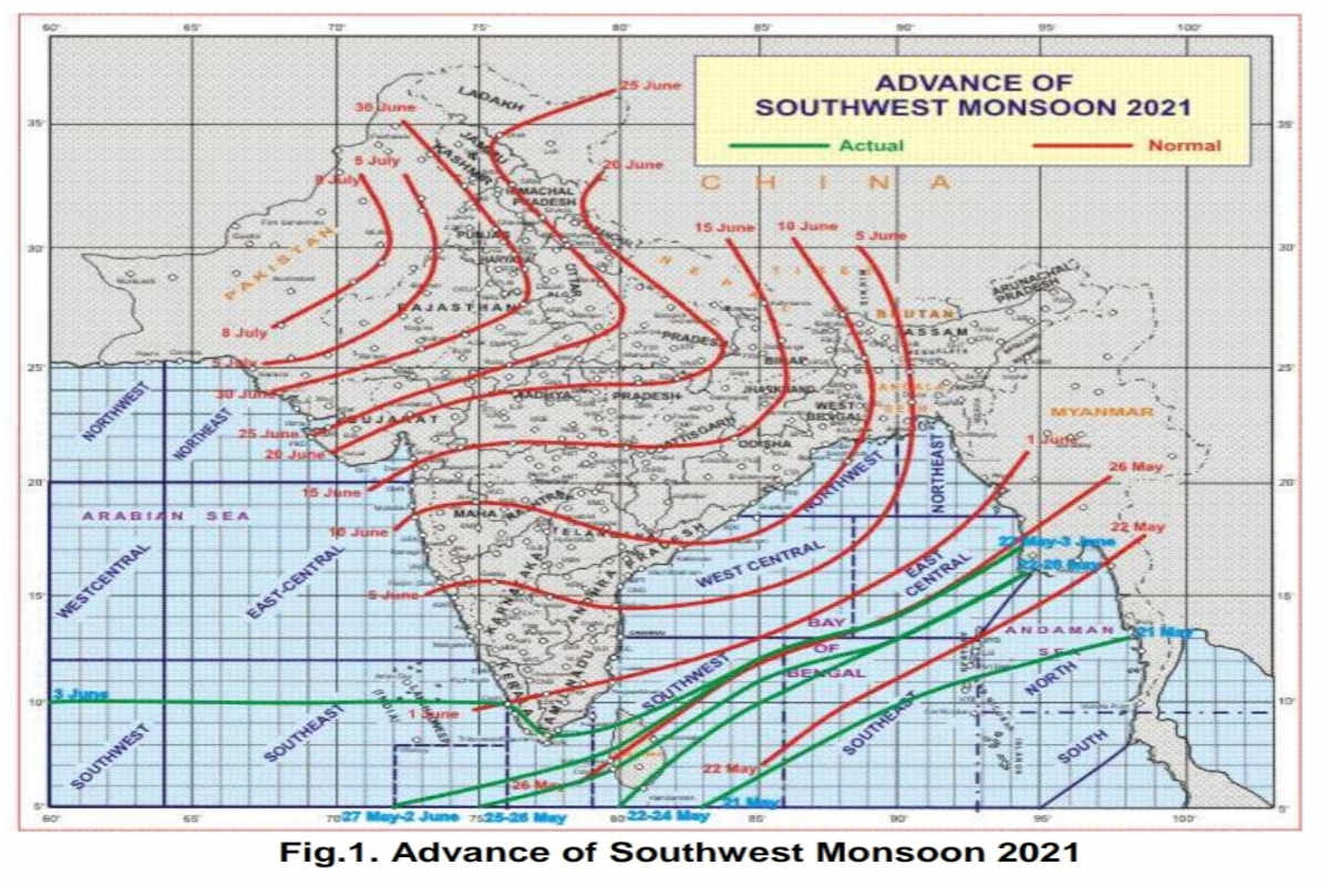 Monsoon 2021: Monsoon has knocked in Kerala, Rajasthan will reach by the end of June, rain is expected today