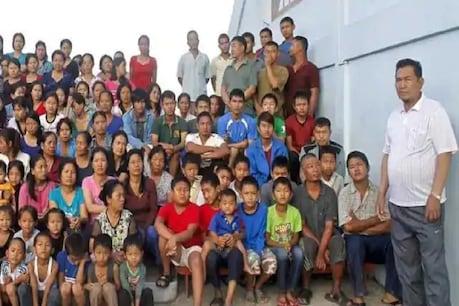 जिओना चाना का परिवार 100 कमरों वाले चार मंजिला मकान में रहता है.