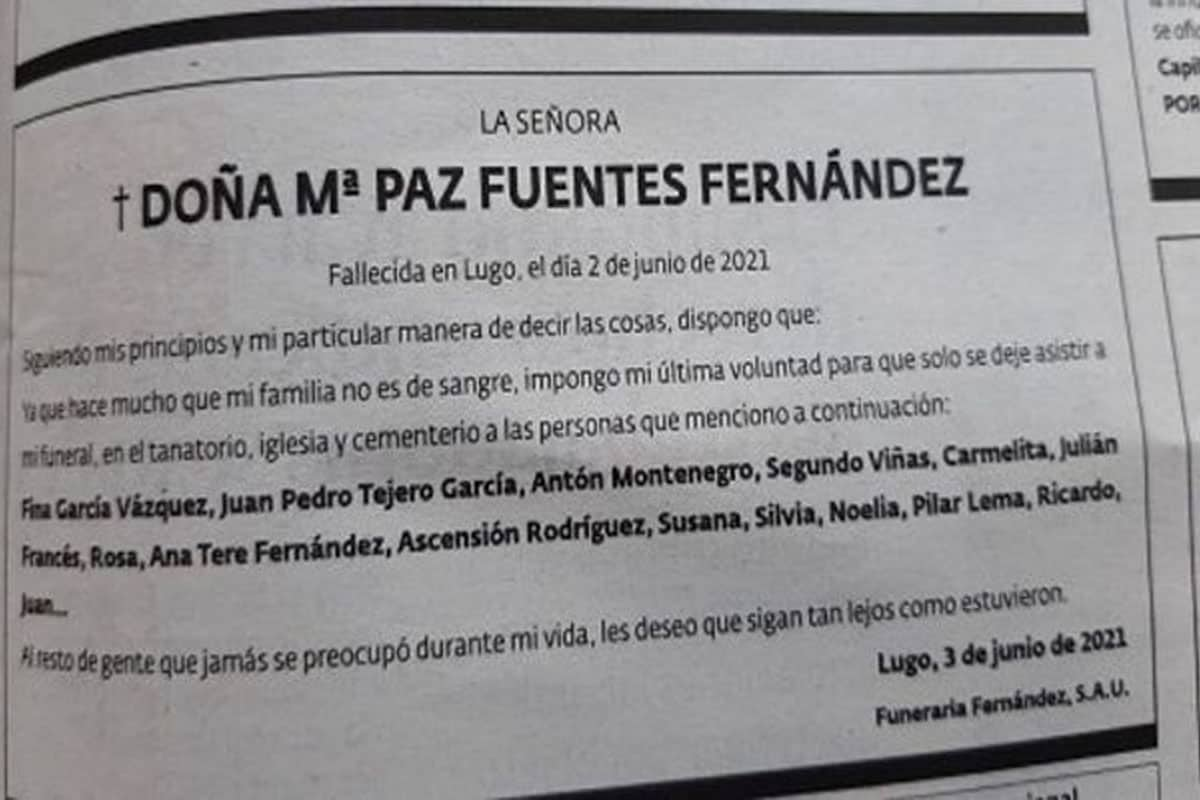 spanish woman funeral card goes viral