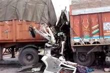 दौसा में राजमार्ग पर ट्रक को ट्रेलर ने पीछे से मारी टक्कर, 4 लोगों की मौत