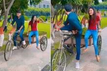 Funny Video: Pawan Singh के गाने le lo pudinaa पर ठेला चलाते दिखे अंकुश राजा