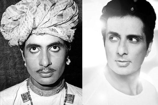 अमिताभ बच्चन और सोनू सूद का लुक काफी मिलता-जुलता है. (फोटो साभार: amitabhbachchan/sonu_sood)