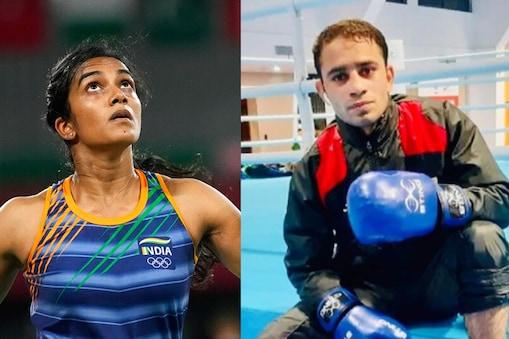 शटलर पीवी सिंधु और बॉक्सर अमित पंघाल टोक्यो ओलंपिक में शनिवार को अपने-अपने मुकाबले खेलने उतरेंगे. (AP/Insta)