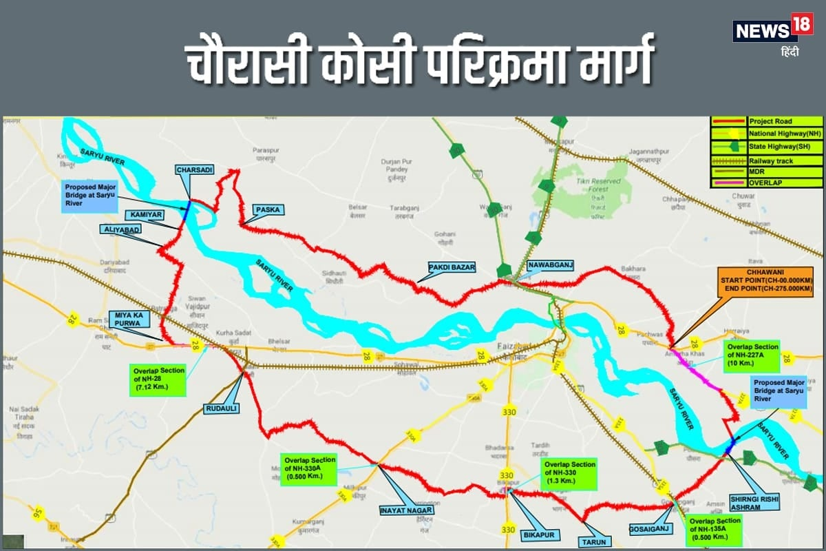 Road Transport Ministry has included Chaurasi Kosi Parkrima Marg as a highway– News18 Hindi