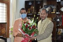 पुष्कर सिंह धामी ने पूर्व CM तीरथ और त्रिवेंद्र सिंह रावत से की मुलाकात