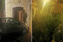 अचानक दीवार तोड़ अंदर घुस गई कार, कमरे में लाइट्स जला मालिक कर रहा था ऐसा काम