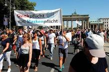 प्रतिबंधों के बावजूद बर्लिन में रैली, पुलिस की हिरासत में एक शख्स की मौत