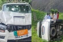 MP News: खंडवा विधायक देवेंद्र वर्मा की कार पलटी, गाय को बचाने में हुआ हादसा