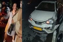 नशे में धुत विदेशी महिला का हाईवे पर Accident, मदद करने आए लोगों से की बदतमीजी