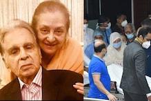 Live Photos: अस्पताल से घर के लिए रवाना हुआ दिलीप कुमार का पार्थिव शरीर