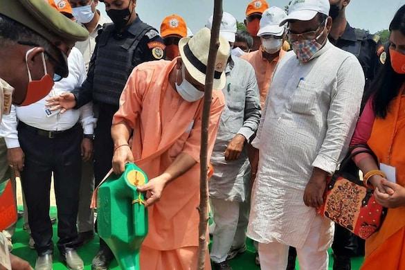 UP News: CM योगी ने शुरू किया पौधारोपण महाभियान, एक दिन में 25 करोड़ पौधे लगाने का लक्ष्य