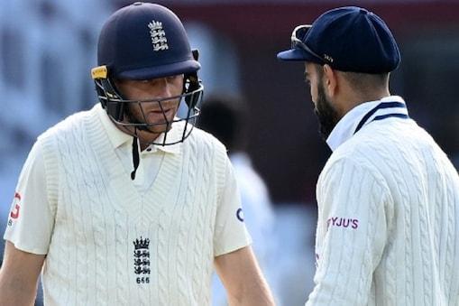 IND vs ENG: विराट कोहली की अगुआई में टीम इंडिया ने 151 रन से लॉर्ड्स टेस्ट जीता था. हालांकि, इस मैच में दोनों  टीमोंके खिलाड़ियों के बीच जमकर जुबानी जंग हुई.  (AFP)