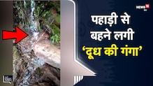 OMG | Mandi में पहाड़ी से बहने लगी 'दूध की गंगा', ग्रामीणों ने की पूजा-अर्चना  | Viral Video