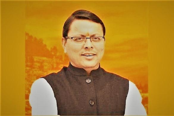 उत्तराखंड के मुख्यमंत्री पुष्कर सिंह धामी.