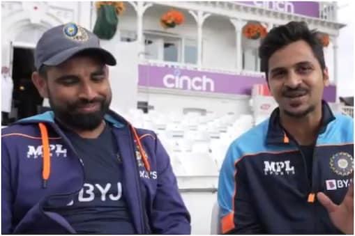 IND vs ENG: शार्दुल ठाकुर और मोहम्मद शमी ने नॉटिंघम टेस्ट के पहले दिन 2 और 3 विकेट लिए थे. (PC-BCCI Video grab)
