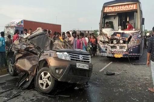 बिहार के मुजफ्फरपुर में हादसे का शिकार हुई कमांडेंट की कार