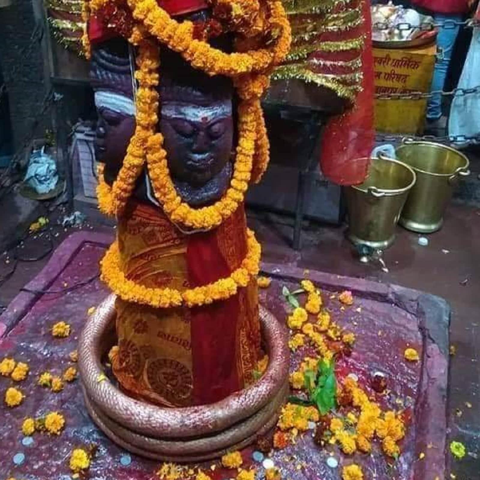 चमत्कार यहीं खत्म नहीं होता है. मंदिर के अंदर एक और ऐसा चमत्कार है जिसे देख आप हैरान रह जाएंगे. मां मुंडेश्वरी के मंदिर में गर्भगृह के अंदर पंचमुखी भगवान शिव का शिवलिंग है जिसकी भव्यता अपने आप में अनोखी है. भोलेनाथ की ऐसी मूर्ति भारत में बहुत कम पायी जाती है , इसी मूर्ति में छुपा हुआ है ऐसा रहस्य जिसके बारे में कोई नही जान या समझ पाया , मंदिर के पुजारी की मानें तो ऐसी मान्यता है कि इसका मूर्ति का रंग सुबह, दोपहर और शाम को अलग-अलग दिखाई देता है. कब शिवलिंग का रंग बदल जाता है, पता भी नहीं चलता.