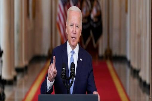 अफगानिस्तान से निकासी से बाद बाइडन ने अमेरिका को संबोधित किया(AP Photo/Evan Vucci)