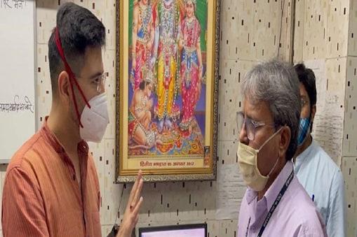 राघव चड्ढा ने एनई -1 जीटीबी एन्क्लेव जोनल राजस्व कार्यालय का औचक निरीक्षण किया है.