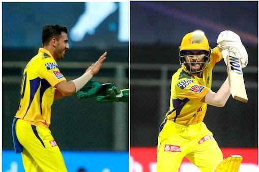 IPL 2021: चेन्नई सुपर किंग्स के दीपक चाहर और रुतुराज गायकवाड़ ऑरेंज और पर्पल कैप की रेस में टॉप 5 में आ गए हैं. (PTI)