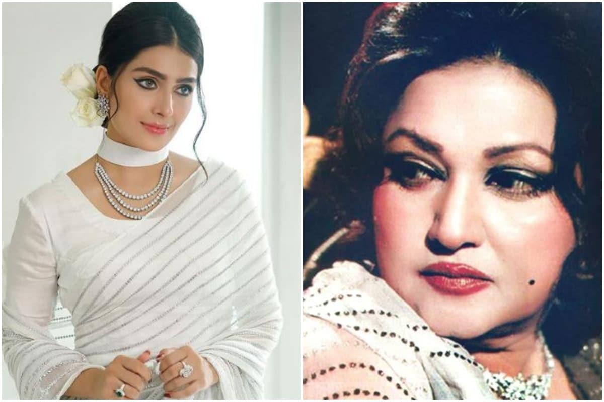आयजा ने खुद को एक्ट्रेस नूर जहां के गेटअप में भी तैयार किया है, जो एक पाकिस्तानी एक्ट्रेस हैं. नूर जहां ने कुछ भारतीय फिल्मों में भी काम किया है. (फोटो साभारः InstagramSayezakhan.ak)