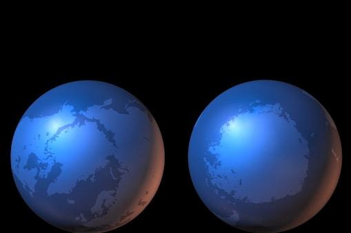 पृथ्वी के ध्रुवों (Earth Poles) पर पिघलती बर्फ उसके नीचे की पर्पटी को सीधे तौर पर प्रभावित कर रही है. (प्रतीकात्मक तस्वीर: Pixabay)