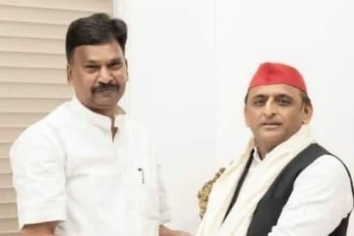 UP Assembly Election 2022: अखिलेश यादव से मिले BJP विधायक राकेश राठौर