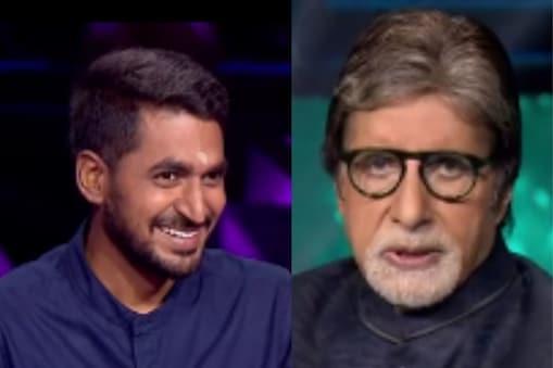 अमिताभ बच्चन ने की शो पर कंटेस्टेंट से मस्ती भरे सवाल पूछे. (फोटो साभार:  sonytvofficial/Instagram)