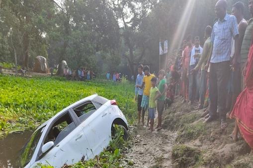 बिहार के अररिया में हादसे का शिकार हुई कार