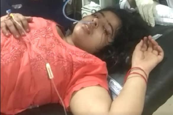 बागपत में खुदकुशी की कोशिश के बाद अस्पताल में भर्ती महिला.