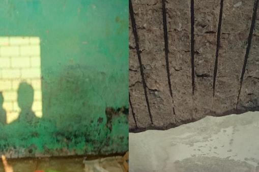 बेमेतरा में क्लास के दौरान स्कूल की छत से गिरा प्लास्टर.