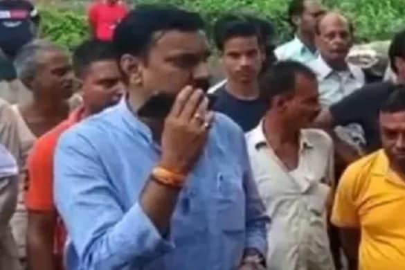 सीतापुर के महोली से बीजेपी विधायक शशांक त्रिवेदी का वीडियो वायरल