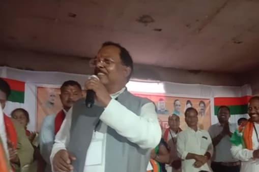 छत्तीसगढ़ के बलरामपुर जिले में बीजेपी प्रदेशाध्यक्ष ने कांग्रेस पर गंभीर आरोप लगाए.