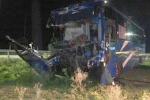इटावा: आगरा-लखनऊ एक्सप्रेसवे पर बस-ट्रक में भिड़ंत, ड्राइवर समेत दो की मौत