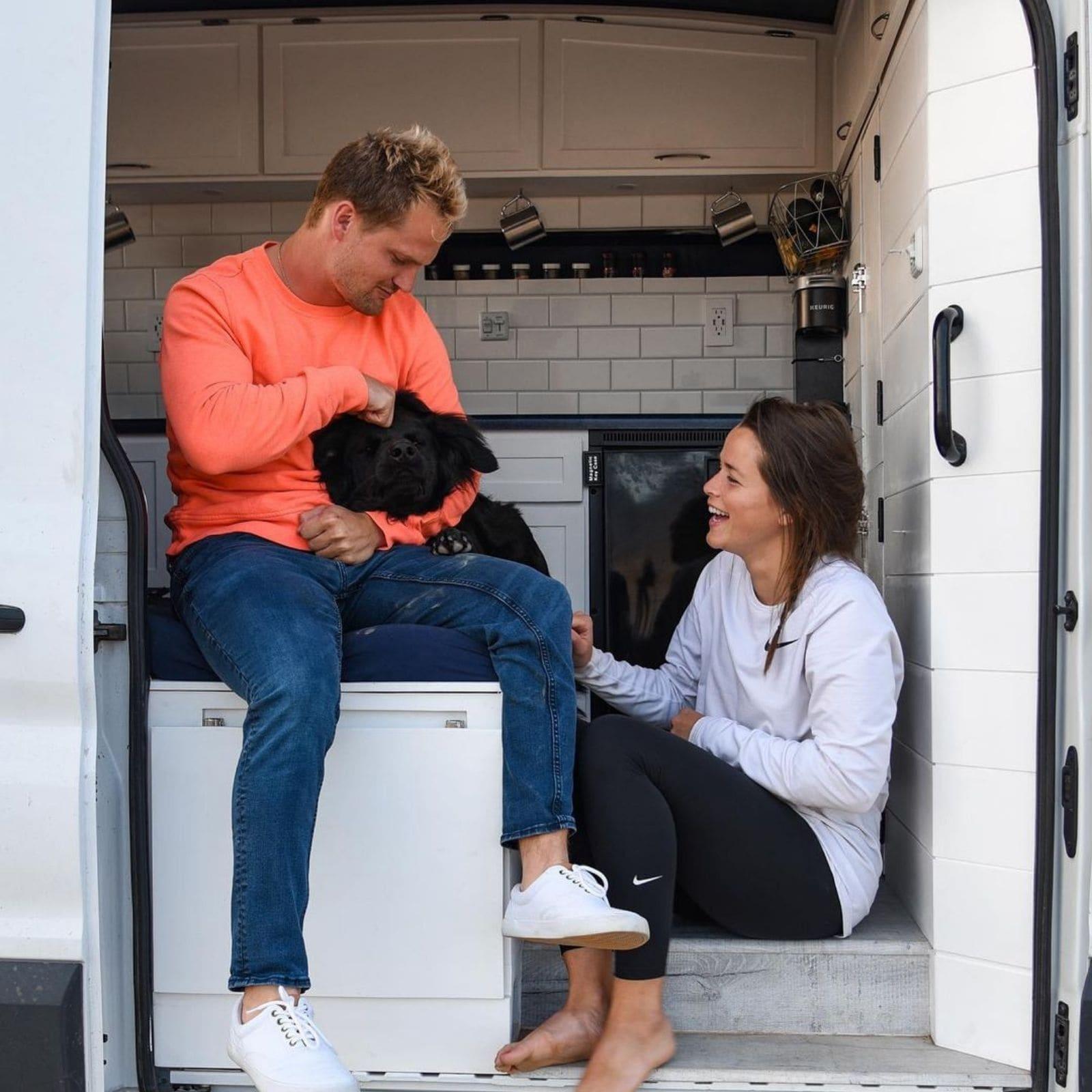 american woman lives in van