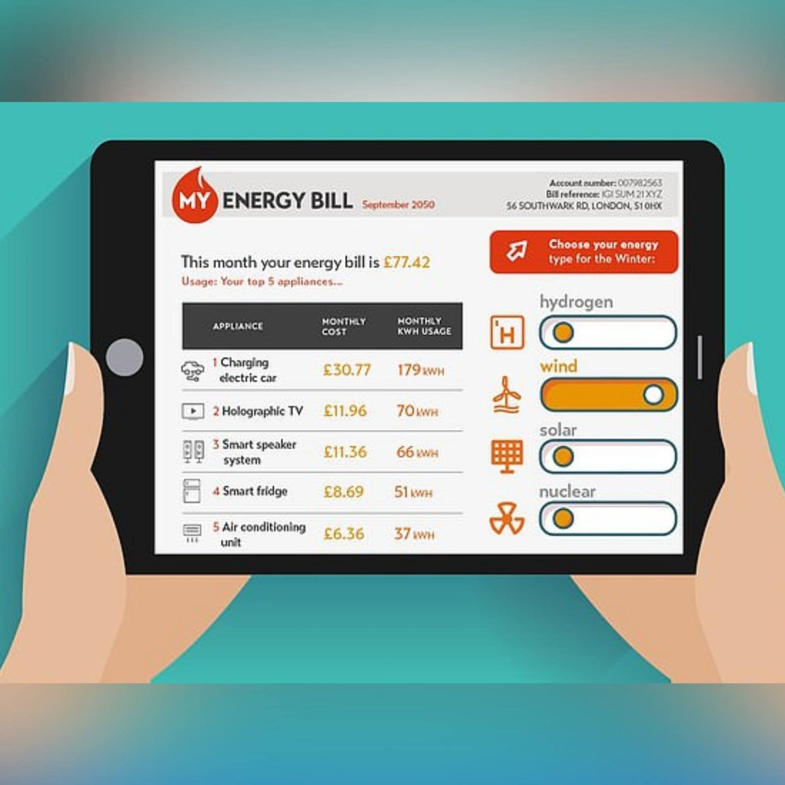 mobile app to manage electricity