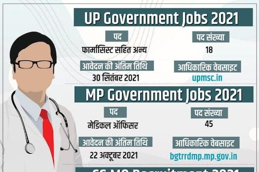 Sarkari Naukri Result 2021: मध्य प्रदेश, छत्तीसगढ़ और उत्तर प्रदेश में सरकारी नौकरियां निकली हैं.