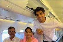 नीरज चोपड़ा ने मां-पापा के साथ किया हवाई सफर, पूरा हुआ बचपन का सपना, शेयर की इमोशनल पोस्ट