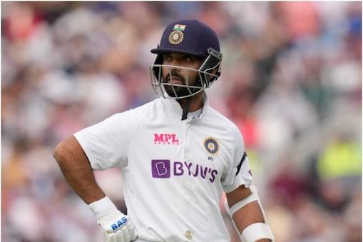 IND VS ENG: अजिंक्य रहाणे ओवल टेस्ट की दूसरी पारी में 0 पर आउट हो गए. (AP)