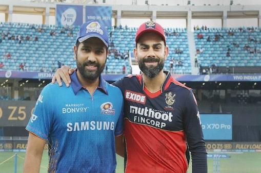 IPL 2021: मुंबई इंडियंस के कप्तान रोहित शर्मा और रॉयल चैलेंजर्स बैंगलोर के कप्तान विराट कोहली.  (PC:PTI)